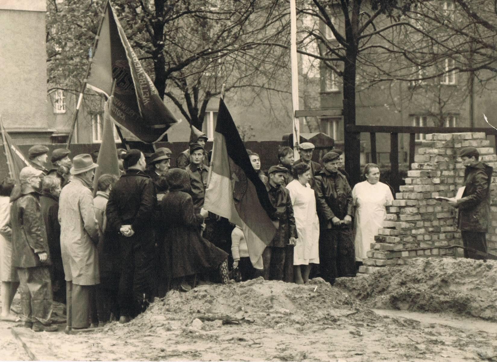 SVW 70 Halle Grudsteinlegung 1960